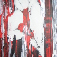 power, 2011, acryl and permanent marker on fibre board, 50x120cm