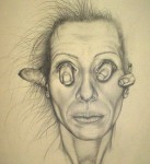 hand in the head, 2006, pencil on paper, 40 x 60cm