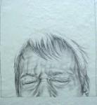 detail: schrei du nur, 2006, pencil on paper on board, 155 x 30cm