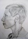 self portrait, 2010, pencil on paper, 21 x 30cm