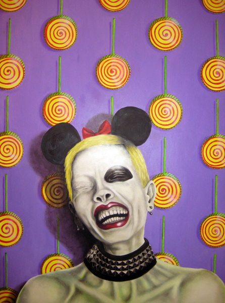 sugar flash, 2011, oil on fibre board, 70x90cm