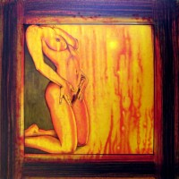 naked in hell, 20011, acryl and oil on fibre board, 40x40cm