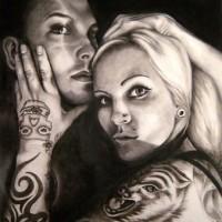 portrait, 2010, oil on fibre board, 70x90cm