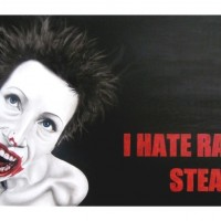i hate rare steaks, 2008, oil on fibre board, 120x90cm