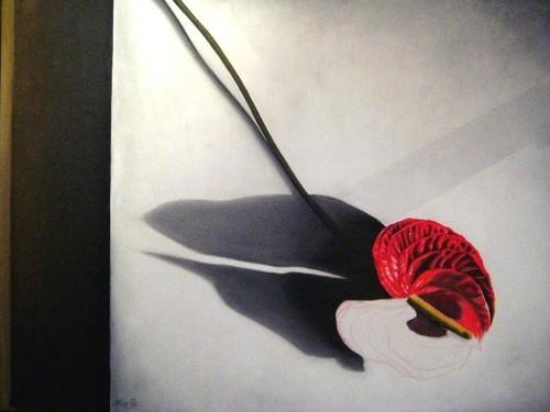 no roses, 2007, oil on fibre board, 90x70cm