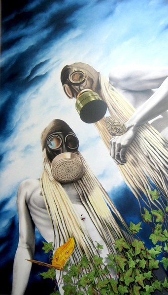 natures revenge, 2008, oil on fibre board, 90x120cm