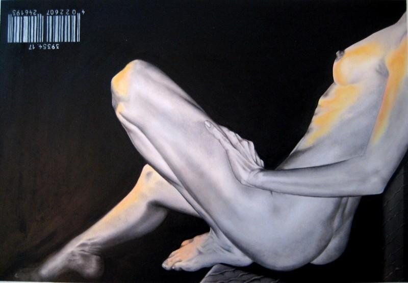 dress code skin, 2008, oil on fibre board, 90x70cm
