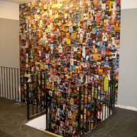 bellissimo cover-wall, 2009, collage approx 1000 pieces, 500x800cm