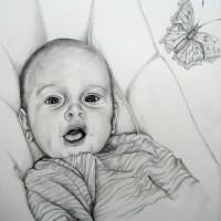 portrait, 2009, pencil on paper, 40x50cm
