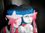 star child, 2008, oil on fibre board, 90x70cm