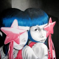 star child, 2008, oil on fibre board, 90x70cm