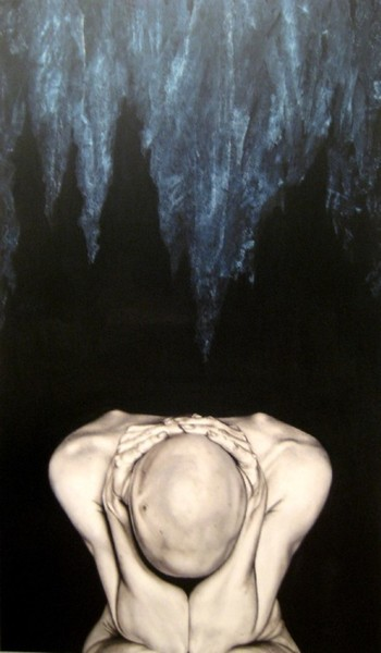 what is coming over me, 2009, oil on fibre board, 90x120cm